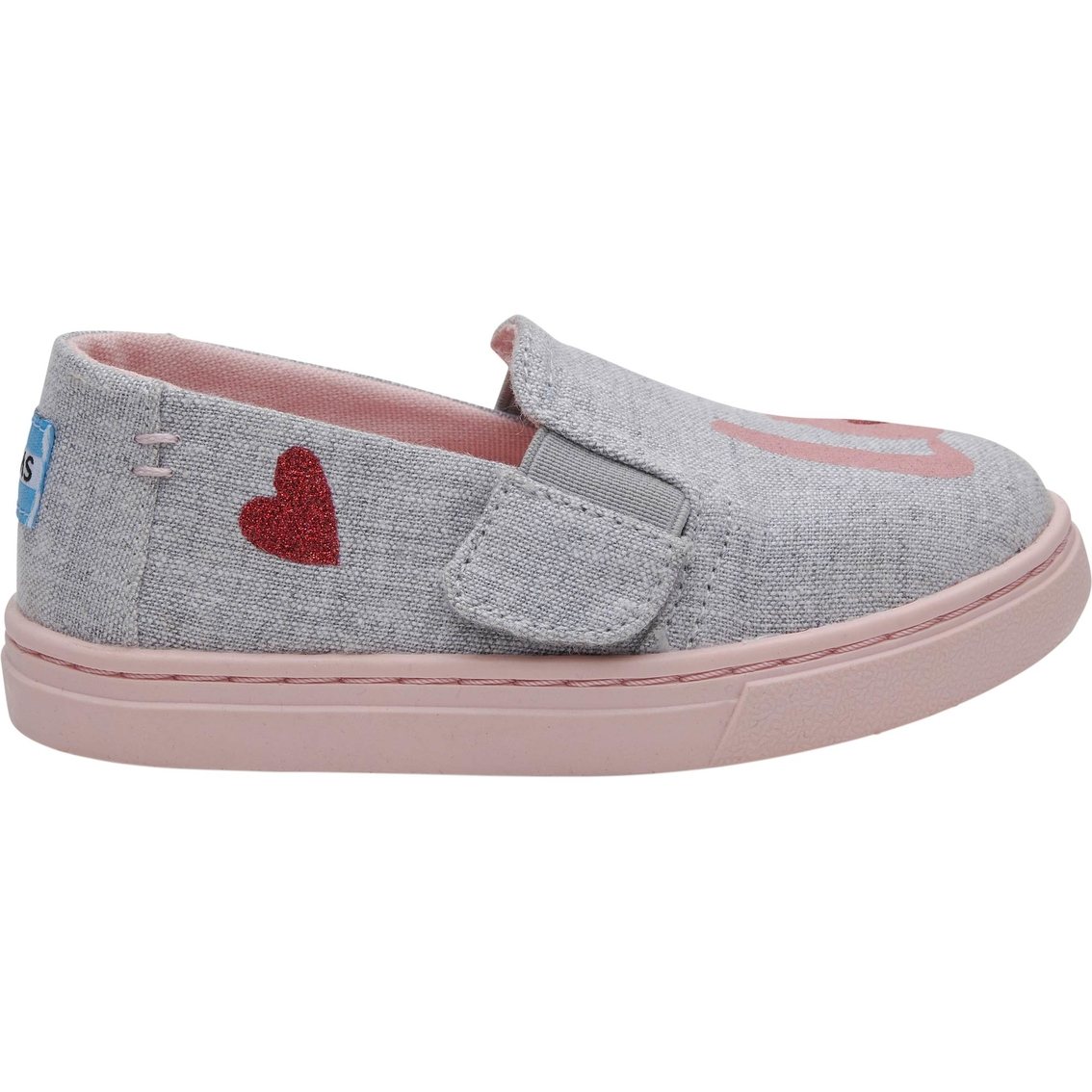 9cd5cd7943 Toms Girls Drizzle Love Tn Luca Slip On Shoes | Casual | Shoes ...