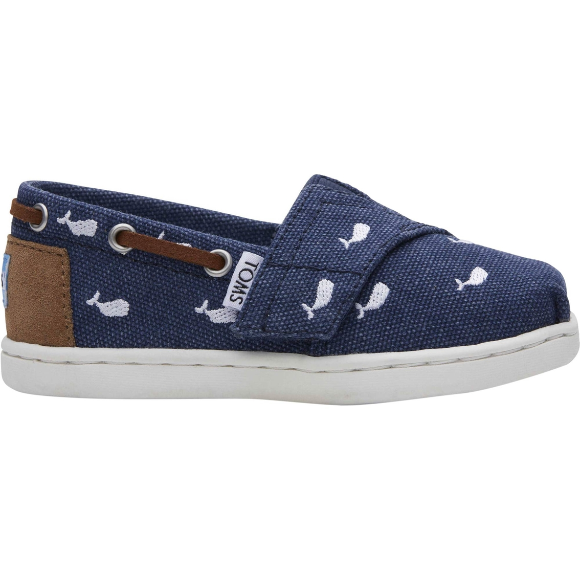 db38d64fdbc Toms Whale Embroidery Tiny Bimini Boat Shoes