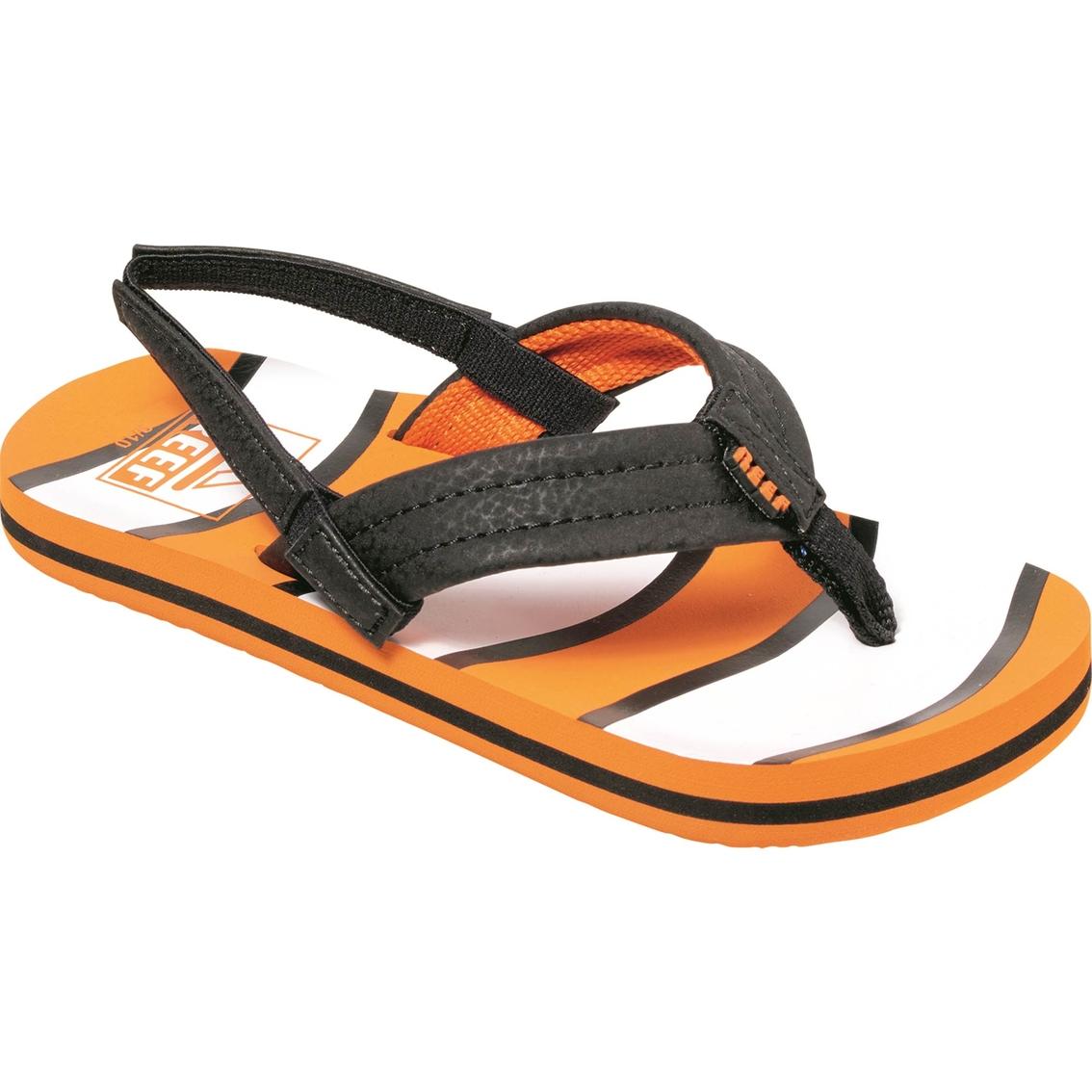 3c0a11ff4581 Reef Boys Ahi Orange Fish Sandals