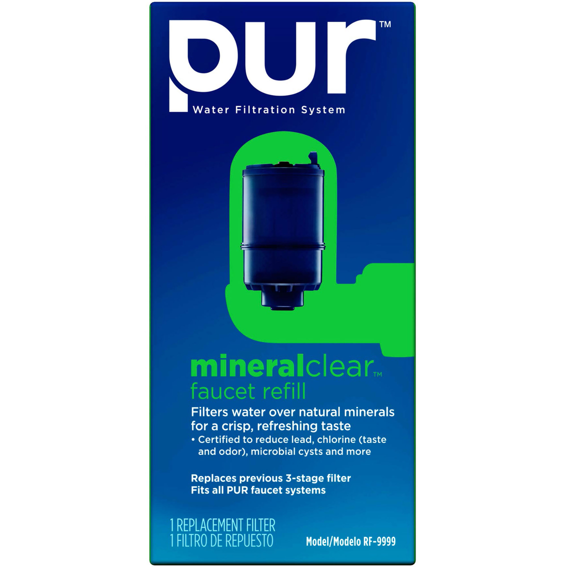 Pur Faucet Mount Water Filtration System Mineralclear Replacement ...