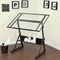 Studio Designs Solano Height Adjustable Drawing Table with Glass Top - Image 4 of 4