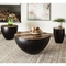 Scott Living Coffee Table with Black Iron Drum Base - Image 3 of 3
