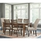 Signature Design by Ashley Flynnter 7 pc. Dining Set with Linen Host Chairs - Image 3 of 3