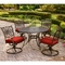 Hanover Traditions 5 pc. Swivel Rocker Dining Set with Cast Top Table - Image 4 of 4