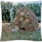 Trademark Fine Art Claude Monet Haystacks Decorative Throw Pillow - Image 1 of 3
