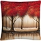 Trademark Fine Art Rio Parade Of Red Trees Decorative Throw Pillow - Image 1 of 3
