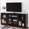 Scott Living Breckinridge Transitional TV Console with Glass Doors - Image 2 of 2