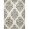 Concord Global New Casa Damask Ivory 5 x 7 ft. Area Rug - Image 1 of 3