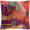 Trademark Fine Art Wanderings' Colorful Shapes Composition Decorative Throw Pillow - Image 1 of 3