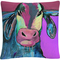 'Color Series Bull Drool 2' By Pat Saunders White Decorative Throw Pillow - Image 1 of 2