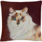 Trademark Fine Art Capturing Eyes Cat Red White Decorative Throw Pillow - Image 1 of 2