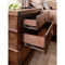 Abbyson Knightly Vintage Oak Wood 4 Piece Bedroom Set, Queen - Image 6 of 6