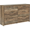 Signature Design by Ashley Rusthaven 6 Drawer Dresser - Image 1 of 4