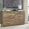 Signature Design by Ashley Rusthaven 6 Drawer Dresser - Image 3 of 4