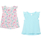 Gumballs Infant Girls Island Paradise and Butterfly Print Flutter Sleeve Top 2 pk. - Image 1 of 2