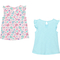 Gumballs Infant Girls Island Paradise and Butterfly Print Flutter Sleeve Top 2 pk. - Image 2 of 2