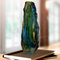 Dale Tiffany Fuji Lava Hand Blown Art Glass Vase - Image 2 of 2