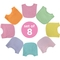 Gumballs Infant Multicolor Bib 8 Pc. Set - Image 2 of 10