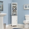 Sauder Caraway Linen Tower, Soft White with Slate Finish Accent - Image 1 of 3