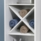 Sauder Caraway Linen Tower, Soft White with Slate Finish Accent - Image 2 of 3
