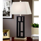 Artiva USA Perry 31 In. Geometric Black and Brushed Steel Table Lamp - Image 2 of 2