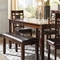 Signature Design by Ashley Bennox Dining Room Table Set with Bench - Image 3 of 3