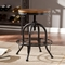 Southern Enterprises Adjustable Industrial Stool - Image 2 of 3