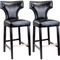 CorLiving Kings Bar Height Bonded Leather Stool with Metal Studs 2 Pk. - Image 1 of 3