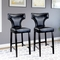 CorLiving Kings Bar Height Bonded Leather Stool with Metal Studs 2 Pk. - Image 3 of 3
