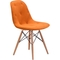 Zuo Modern Probability Dining Chair Orange - Image 3 of 4