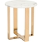 Zuo Modern Atlas Stone and Gold End Table - Image 1 of 4