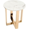 Zuo Modern Atlas Stone and Gold End Table - Image 3 of 4